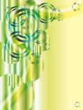 Estratto di verde con gli scintilli e il copyspace illustrazione vettoriale