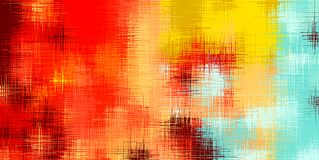 Estratto di verniciatura rosso del blu e di marrone giallo Fotografia Stock Libera da Diritti