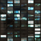 Estratto di Windows del grattacielo dell'ufficio Fotografia Stock