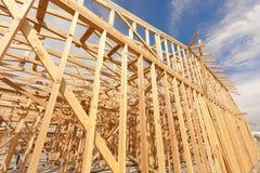Estratto domestico dell'inquadratura della nuova costruzione Fotografia Stock Libera da Diritti