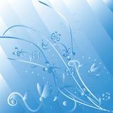 Estratto floreale blu illustrazione vettoriale