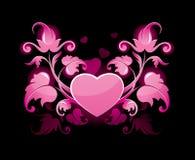 Estratto floreale con cuore Fotografia Stock