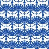 Estratto floreale di Turskish del blu reale di vettore royalty illustrazione gratis