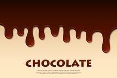 Estratto fuso del cioccolato Priorità bassa della decorazione Immagini Stock Libere da Diritti