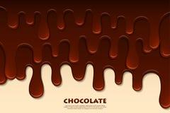 Estratto fuso del cioccolato Priorità bassa della decorazione Fotografia Stock