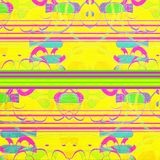 Estratto geometrico al neon Fotografia Stock