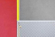 Estratto geometrico architettonico della costruzione moderna multicolore immagine stock
