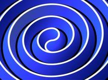 Estratto geometrico in curve blu Fotografie Stock Libere da Diritti