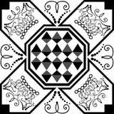 Estratto geometrico Reticolo con annata elementi Fotografia Stock