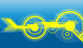 Estratto giallo blu Fotografie Stock