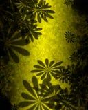 Estratto giallo verde dei fiori fotografia stock