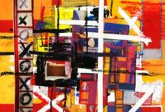 Estratto - griglia ed arte e vernice e colore Fotografie Stock Libere da Diritti