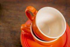 Estratto impilato delle tazze di caffè Fotografie Stock Libere da Diritti