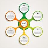 Estratto infographic sotto forma di metabolico Elementi di disegno Fotografia Stock Libera da Diritti