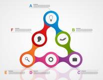 Estratto infographic sotto forma di metabolico Elementi di disegno Fotografia Stock