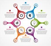 Estratto infographic sotto forma di metabolico Elementi di disegno Fotografie Stock