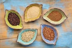 Estratto libero della ciotola dei grani del glutine Fotografia Stock Libera da Diritti