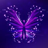 Estratto lucido della farfalla Fotografia Stock
