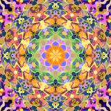 Estratto Mandala Background floreale variopinta della pittura di Digital royalty illustrazione gratis