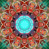 Estratto Mandala Background floreale variopinta della pittura di Digital illustrazione di stock