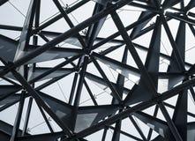 Estratto moderno di architettura della costruzione della struttura d'acciaio Immagini Stock Libere da Diritti