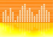 Estratto musicale del grafico del volume Fotografia Stock Libera da Diritti