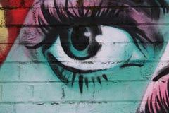Estratto nello stile di urbano occhi Fotografia Stock