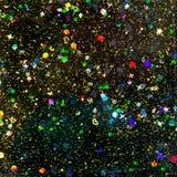 Estratto olografico nero di scintillio Fotografia Stock