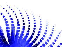 Estratto organico del reticolo della molecola blu illustrazione vettoriale