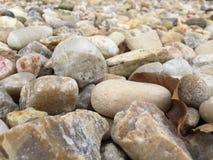 Estratto roccioso e asciutto del letto di fiume fotografie stock libere da diritti