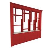 Estratto rosso degli scaffali Fotografia Stock Libera da Diritti