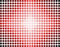 Estratto rosso dei puntini Immagini Stock