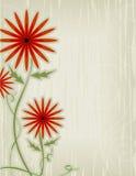 Estratto rosso del fiore Fotografia Stock Libera da Diritti