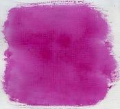 Estratto rosso dell'acquerello della Rosa con struttura della tela di canapa Fotografie Stock Libere da Diritti
