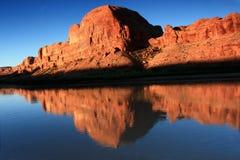 Estratto rosso della roccia Fotografia Stock