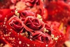 Estratto rosso della Rosa Fotografie Stock