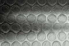 Estratto rosso di struttura del bubblewrap Fotografie Stock