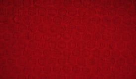 Estratto rosso di struttura del bubblewrap Immagini Stock