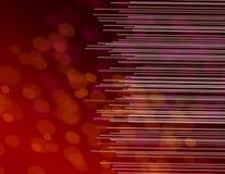 Estratto rosso ottico della fibra. Fotografia Stock Libera da Diritti