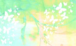 Farfalle sbiadette dello Splatter illustrazione di stock