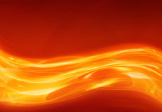 estratto scorrente della lava o di calore Fotografia Stock