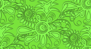 Estratto senza cuciture di sollievo del modello nei toni verdi Per i tessuti, copre, wallpapers Fotografie Stock