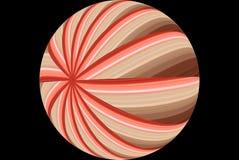 Estratto a strisce rosso della sfera Fotografia Stock