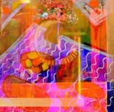 Estratto su tela di canapa Fotografia Stock Libera da Diritti