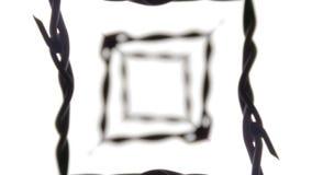 Estratto Trippy del caleidoscopio del filo spinato illustrazione vettoriale