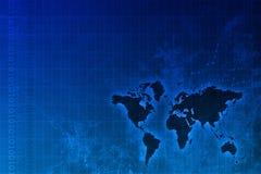 Estratto in tutto il mondo corporativo di sviluppo Immagini Stock