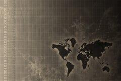 Estratto in tutto il mondo corporativo di sviluppo Immagine Stock