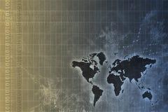 Estratto in tutto il mondo corporativo di sviluppo illustrazione vettoriale
