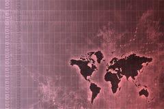 Estratto in tutto il mondo corporativo di sviluppo royalty illustrazione gratis