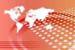 Estratto in tutto il mondo corporativo di sviluppo Fotografia Stock
